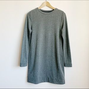 soft stretchy dark grey oak + fort sweater dress